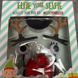 Elfie Your Selfie novelty hair bun kit